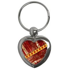 Wood And Jewels Key Chains (heart)