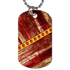 Wood And Jewels Dog Tag (two Sides)