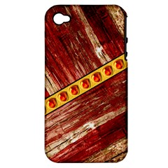 Wood And Jewels Apple Iphone 4/4s Hardshell Case (pc+silicone)