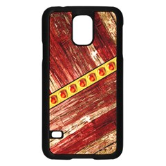 Wood And Jewels Samsung Galaxy S5 Case (black) by linceazul