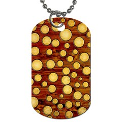 Wood And Gold Dog Tag (two Sides)