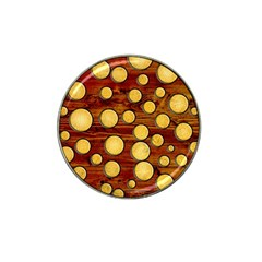 Wood And Gold Hat Clip Ball Marker (10 Pack)