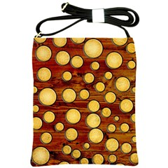 Wood And Gold Shoulder Sling Bags