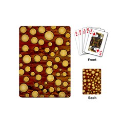 Wood And Gold Playing Cards (mini)