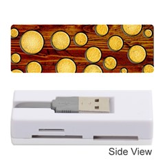 Wood And Gold Memory Card Reader (stick)