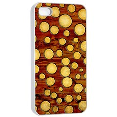 Wood And Gold Apple Iphone 4/4s Seamless Case (white)