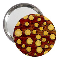 Wood And Gold 3  Handbag Mirrors