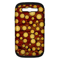 Wood And Gold Samsung Galaxy S Iii Hardshell Case (pc+silicone)