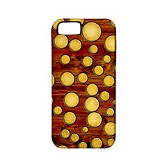 Wood And Gold Apple Iphone 5 Classic Hardshell Case (pc+silicone)