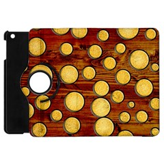 Wood And Gold Apple Ipad Mini Flip 360 Case