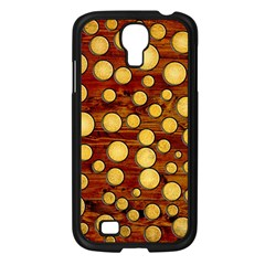 Wood And Gold Samsung Galaxy S4 I9500/ I9505 Case (black) by linceazul