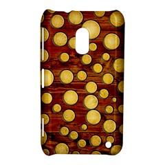 Wood And Gold Nokia Lumia 620
