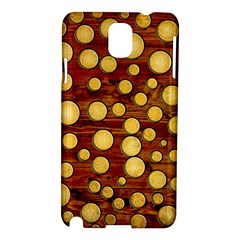 Wood And Gold Samsung Galaxy Note 3 N9005 Hardshell Case