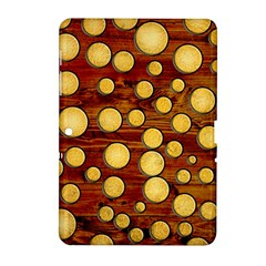 Wood And Gold Samsung Galaxy Tab 2 (10 1 ) P5100 Hardshell Case
