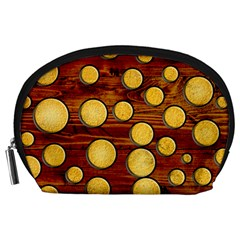 Wood And Gold Accessory Pouches (large)