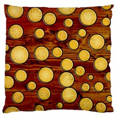 Wood And Gold Standard Flano Cushion Case (two Sides)