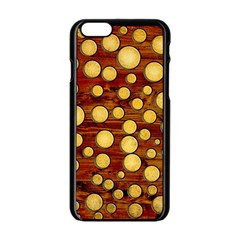 Wood And Gold Apple Iphone 6/6s Black Enamel Case