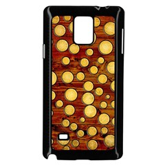 Wood And Gold Samsung Galaxy Note 4 Case (black)
