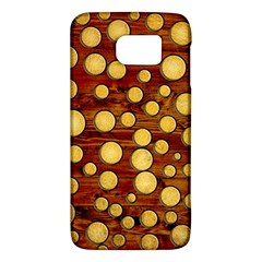 Wood And Gold Galaxy S6