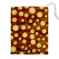 Wood And Gold Drawstring Pouches (xxl)