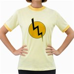 Lightning bolt Women s Fitted Ringer T-Shirts