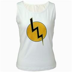 Lightning Bolt Women s White Tank Top