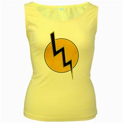 Lightning Bolt Women s Yellow Tank Top