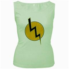 Lightning Bolt Women s Green Tank Top