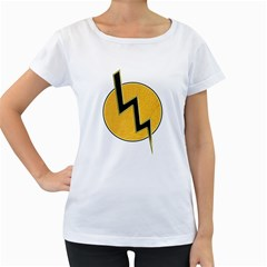 Lightning Bolt Women s Loose Fit T Shirt (white)