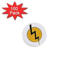 Lightning Bolt 1  Mini Buttons (100 Pack)