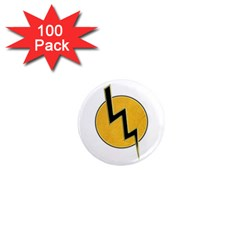 Lightning Bolt 1  Mini Magnets (100 Pack)  by linceazul
