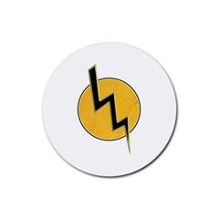 Lightning Bolt Rubber Coaster (round)