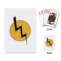 Lightning Bolt Playing Card