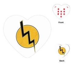 Lightning Bolt Playing Cards (heart)