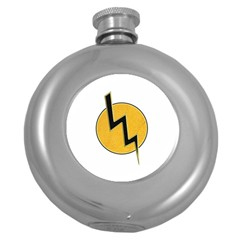 Lightning Bolt Round Hip Flask (5 Oz)