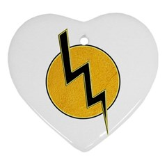 Lightning Bolt Heart Ornament (two Sides)