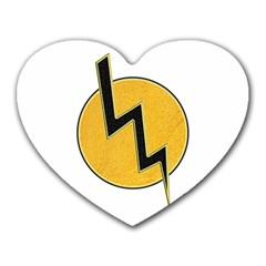Lightning Bolt Heart Mousepads by linceazul