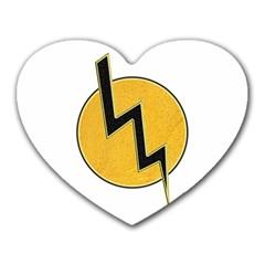 Lightning Bolt Heart Mousepads