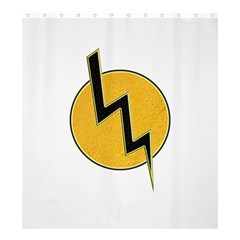 Lightning Bolt Shower Curtain 66  X 72  (large)
