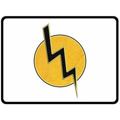 Lightning Bolt Double Sided Fleece Blanket (large)