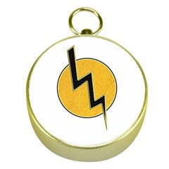 Lightning Bolt Gold Compasses