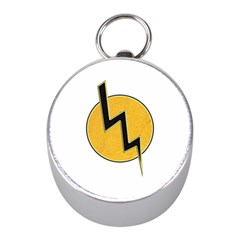 Lightning Bolt Mini Silver Compasses