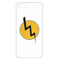Lightning Bolt Apple Iphone 5 Seamless Case (white)