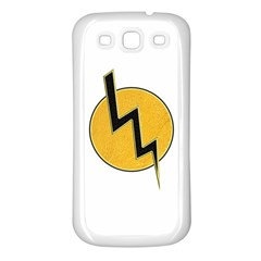 Lightning Bolt Samsung Galaxy S3 Back Case (white)