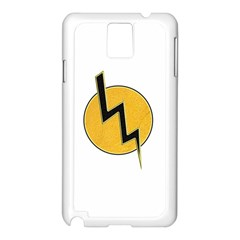Lightning Bolt Samsung Galaxy Note 3 N9005 Case (white) by linceazul