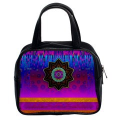 Air And Stars Global With Some Guitars Pop Art Classic Handbags (2 Sides) by pepitasart