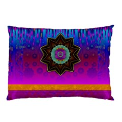 Air And Stars Global With Some Guitars Pop Art Pillow Case by pepitasart
