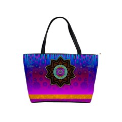 Air And Stars Global With Some Guitars Pop Art Shoulder Handbags by pepitasart