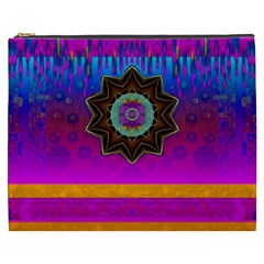 Air And Stars Global With Some Guitars Pop Art Cosmetic Bag (xxxl)  by pepitasart