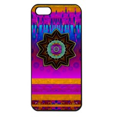 Air And Stars Global With Some Guitars Pop Art Apple Iphone 5 Seamless Case (black) by pepitasart